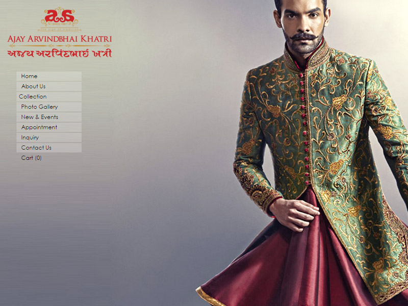 A reputed retailer, trader and supplier of mens Ethnic Wear like Jodhpuri suits, Sherwani, Indo Western and Clothes Accessories